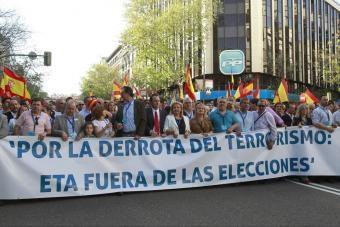 La marcha de AVT con respaldo del PP